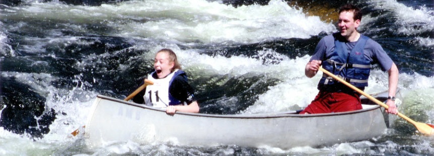 Canoeing the Westfield Whitewater Race